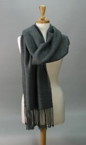 photo of handspun handwoven merino wool and tussah silk shawl, by Joanne Littler, Pine Ledge Fiber Studio