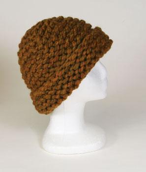 Photo of merino wool hat handspun and handknit by Joanne Litttler